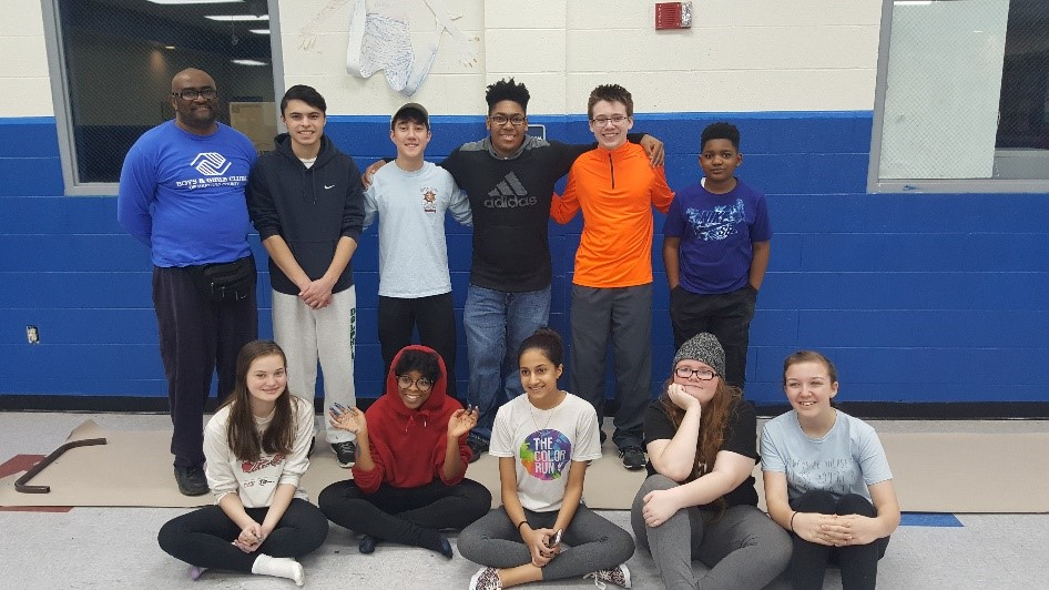 Edgewood Boys and Girls club after student delegates from HCRASC had painted whole common area