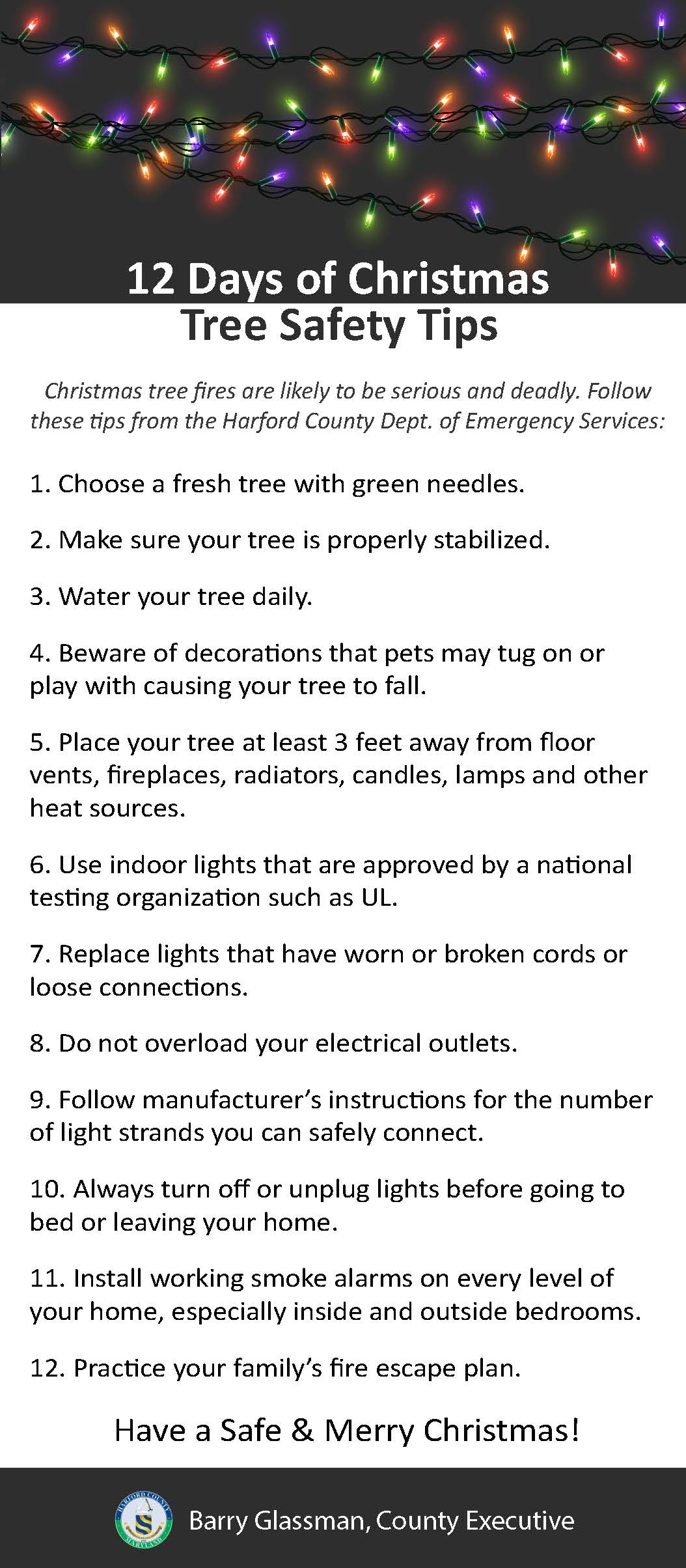 12 Days of Christmas Tree Safety Tips