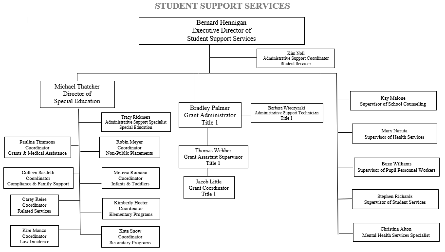 Student Support Services Organization Chart