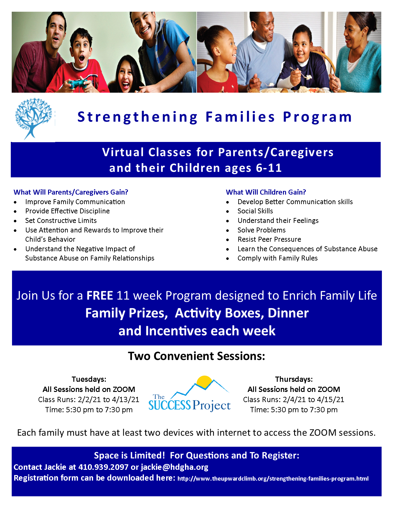 Click on document below to learn more about strengthening families program.