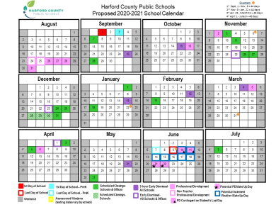 HCPS Proposed 2020-2021 School Calendar for Public Comment