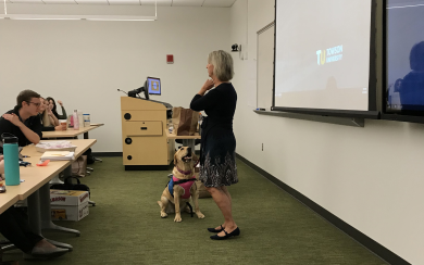 Office of Student Support Services Introduces Therapy Dog Thelma