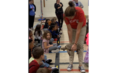 ZOOmobile visits George D. Lisby Elementary School at Hillsdale
